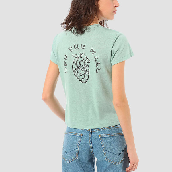 Vans Heart Lizzie Armanto Baby Tee Blue Surf - Womens