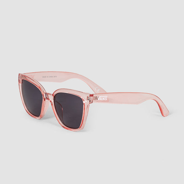 Vans Hip Cat Sunglasses Translucent Fuchsia Pink/Smoke Lens - Womens