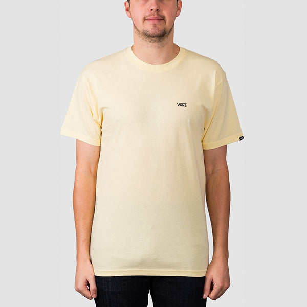 Vans Left Chest Logo Tee Double Cream/Black - Clothing