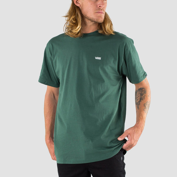 Vans Left Chest Logo Tee Pine Needle/White