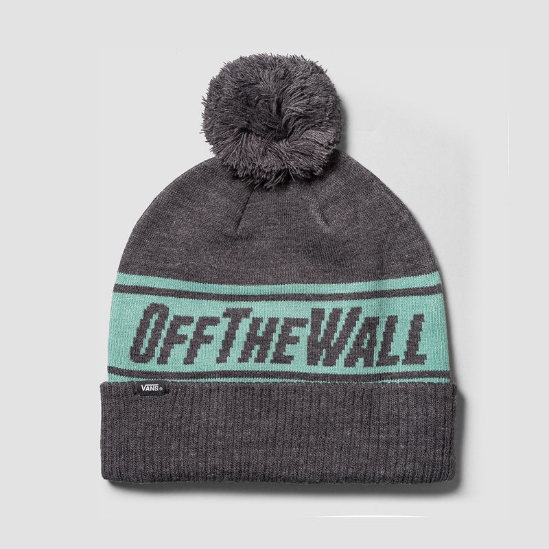 Vans Off The Wall Pom Beanie Heather Grey - Accessories