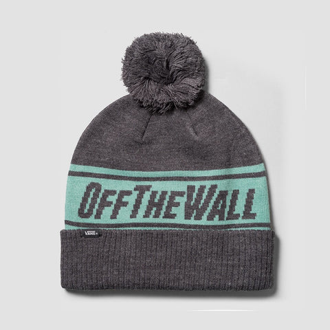 Vans Off The Wall Pom Beanie Heather Grey