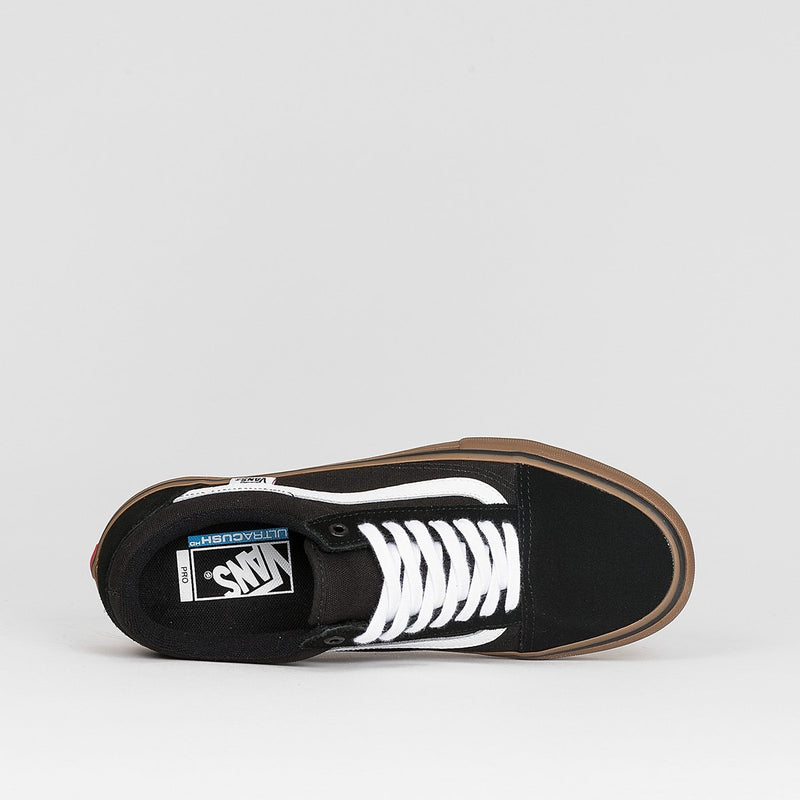 Vans Old Skool Pro Black/White/Medium Gum - Footwear