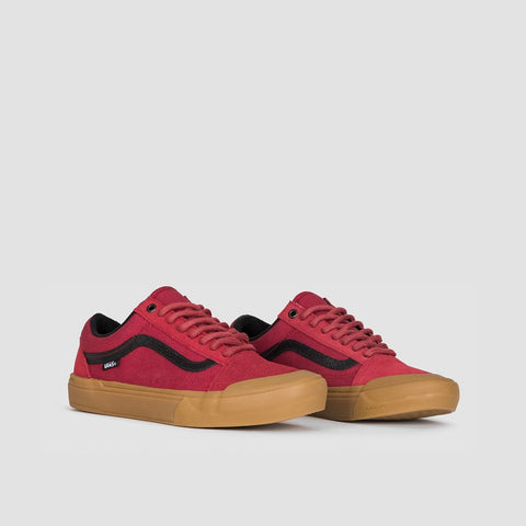 Vans Old Skool Pro Bmx Ty Morrow Biking Red/Gum - Footwear