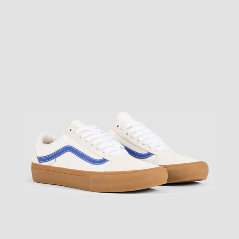 Vans Old Skool Pro Marshmallow/Blue/Gum - Footwear