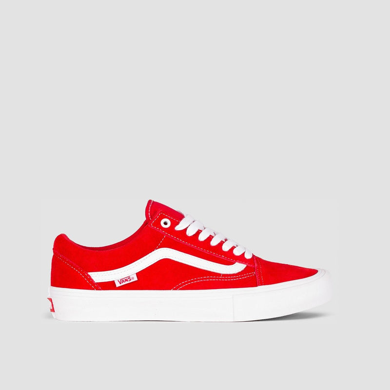 Vans Old Skool Pro Suede Red/White - Footwear