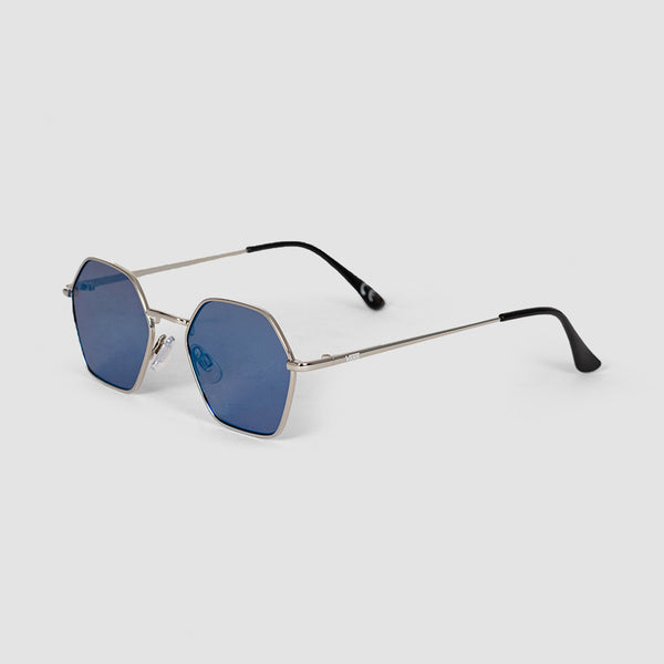 Vans Right Angle Sunglasses Silver/Blue/Mirror Lens - Womens