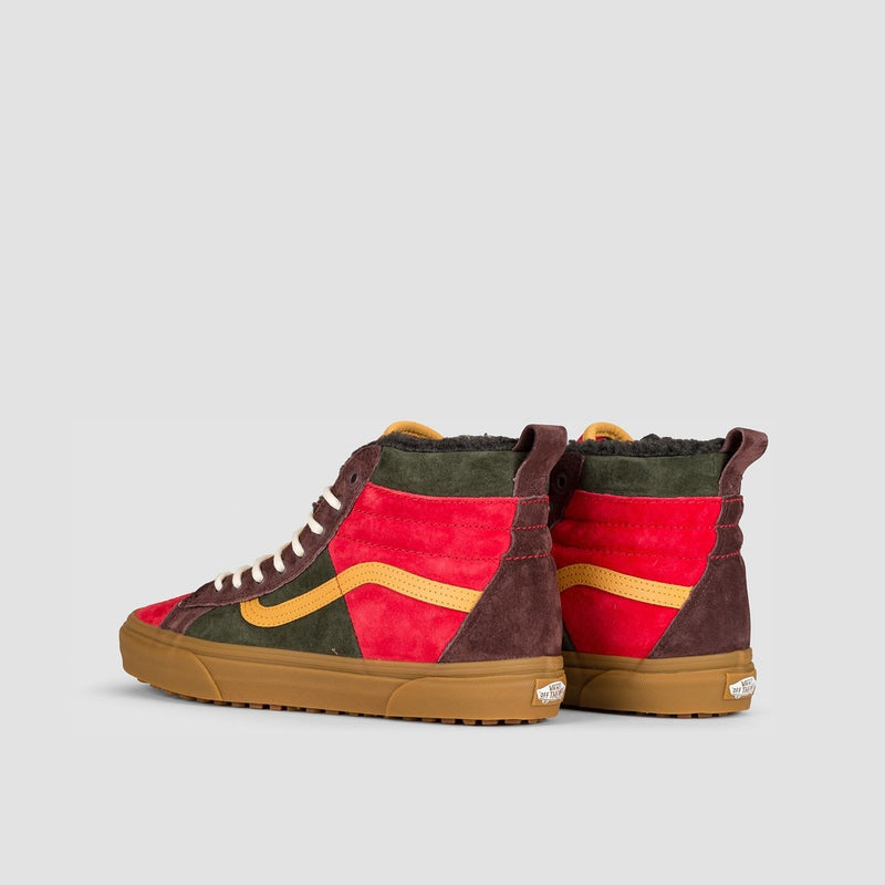 Vans Sk8-Hi 46 MTE DX Poinsettia/Forest Night - Unisex L - Footwear