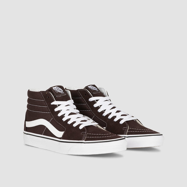 Vans SK8-Hi Chocolate Torte/True White - Unisex L - Footwear