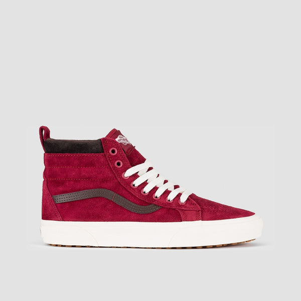 Vans Sk8-Hi Mte Biking Red/Chocolate Torte - Unisex L - Footwear