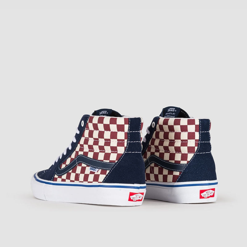 Vans Sk8-Hi Pro Checker Dress Blues - Footwear