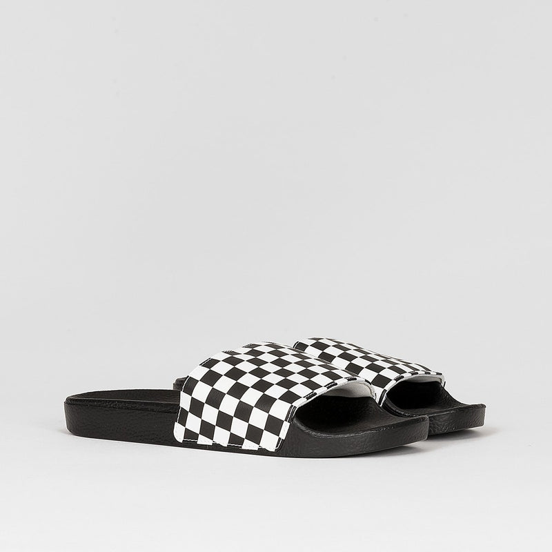 Vans Slide-On Checkerboard White Sandal - Footwear