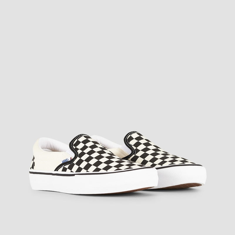 Vans Slip-On Pro Checkerboard Black/White - Footwear