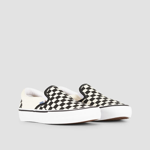 Vans Slip-On Pro Checkerboard Black/White - Unisex S - Footwear