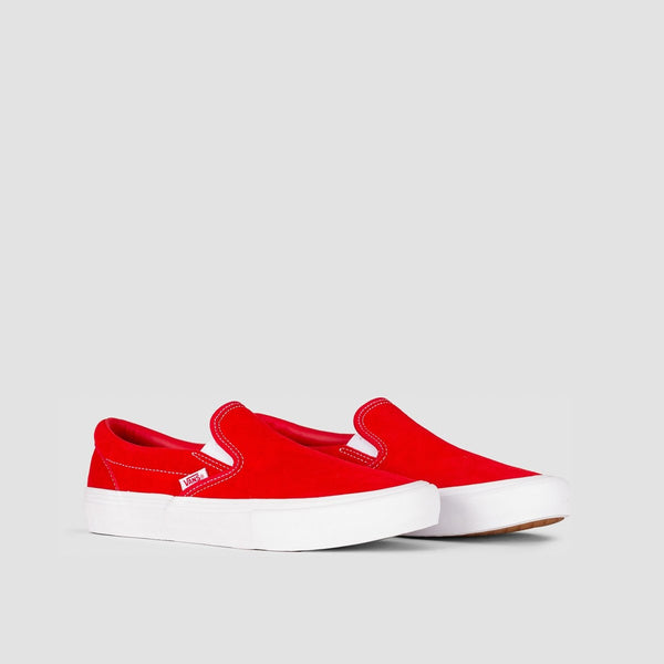 Vans Slip-On Pro Suede Red/White - Footwear