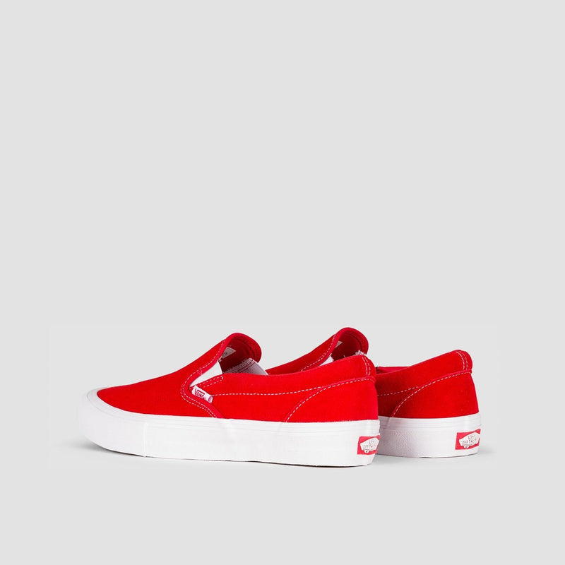Vans Slip-On Pro Suede Red/White - Unisex S - Footwear
