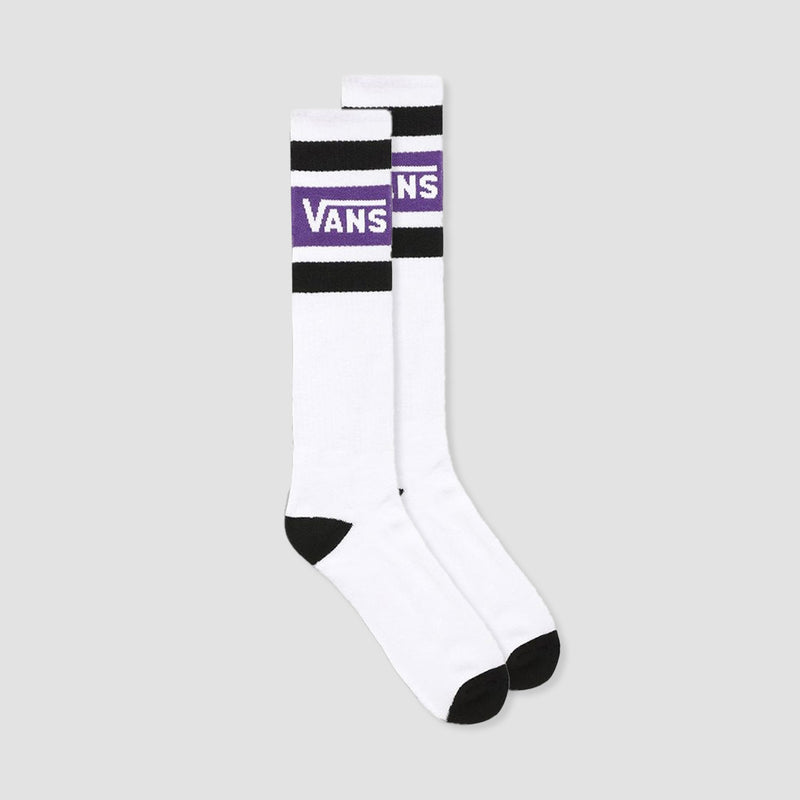 Vans Stripe Knee Hi Socks Heliotrope/White
