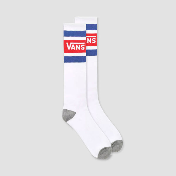 Vans Stripe Knee Hi Socks Racing Red/White