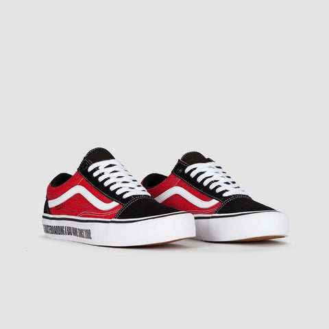 Vans X Baker Old Skool Pro Black/White/Red - Footwear