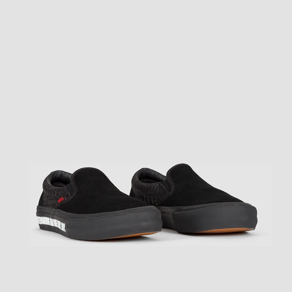 Vans X Baker Slip-On Pro Black/Black/Red - Footwear