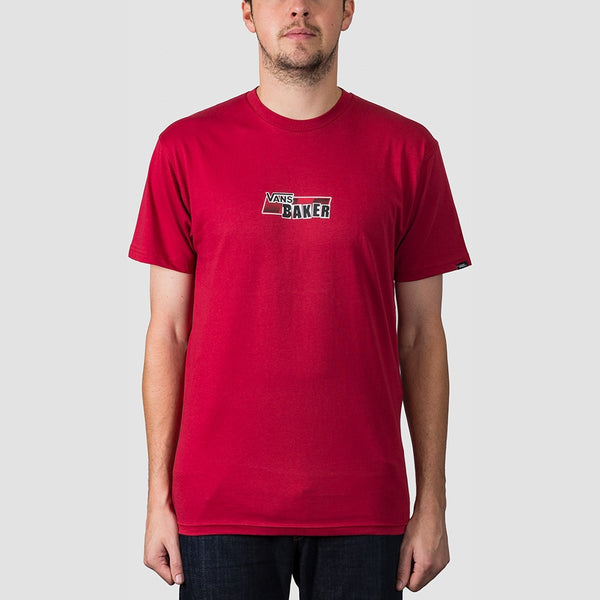 Vans X Baker Speed Check Tee Cardinal - Clothing