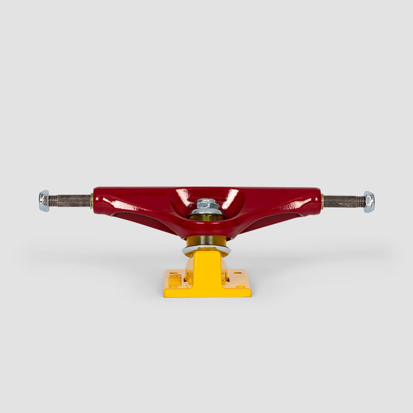 Venture Hi 5.6 Stadium Team Trucks 1 Pair Burgundy/Yellow - 8.25""