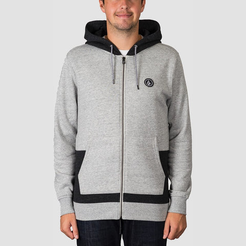Volcom Backronym Zip Hood Grey