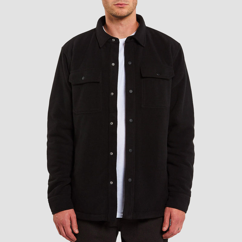 Volcom Bower Polar Fleece Jacket Black
