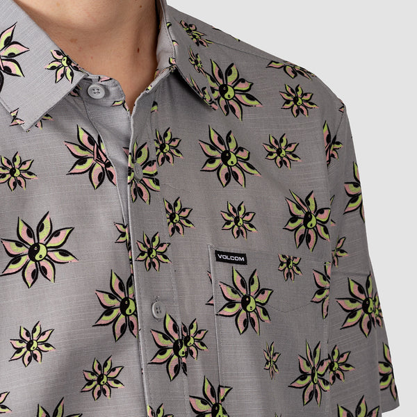 Volcom Burch Bloom Shirt Tower Grey