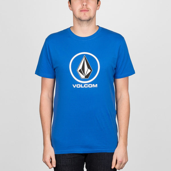 Volcom Circle Stone Tee True Blue - Clothing
