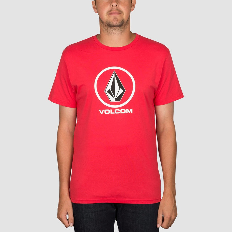 Volcom Circle Stone Tee True Red - Clothing