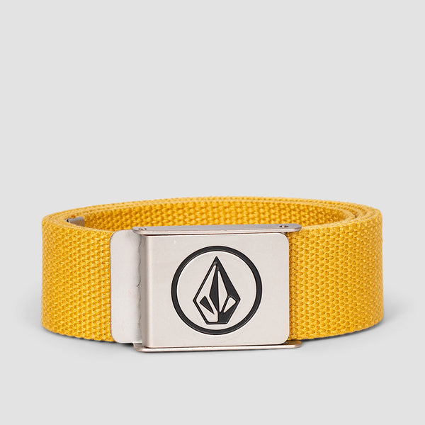 Volcom Circle Web Belt Gold