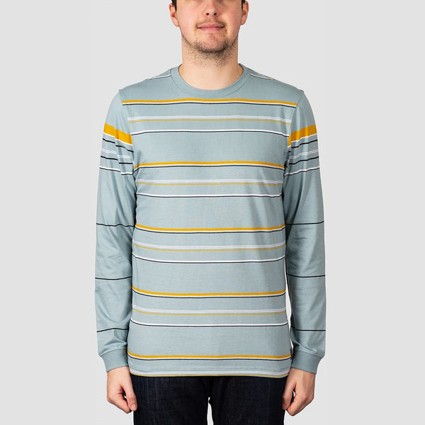 Volcom CJ Collins Long Sleeve Crew Tee Cool Blue - Clothing