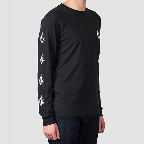 Volcom Deadly Stone Longsleeve Tee Black - Clothing