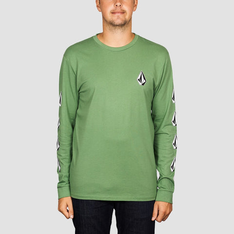 Volcom Deadly Stone Longsleeve Tee Dark Kelly