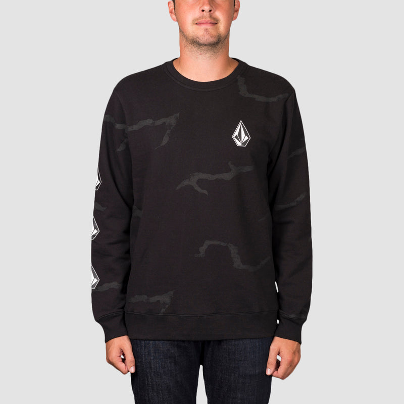 Volcom Deadly Stones Crew Sweat Black Combo