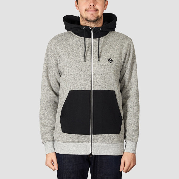 Volcom Factual Lined Zip Hood Heather Grey - Clothing