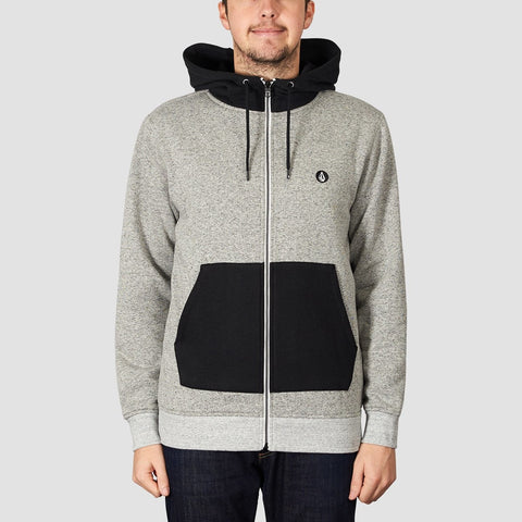 Volcom Factual Lined Zip Hood Heather Grey