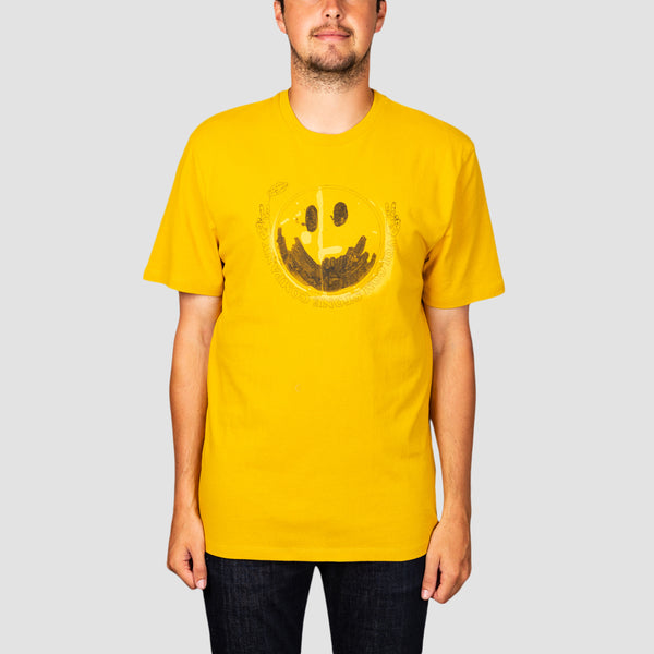 Volcom Fake Smile Boxy Fit Tee Gold