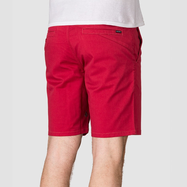 Volcom Frickin Modern Stretch 19 Shorts Burgundy - Clothing