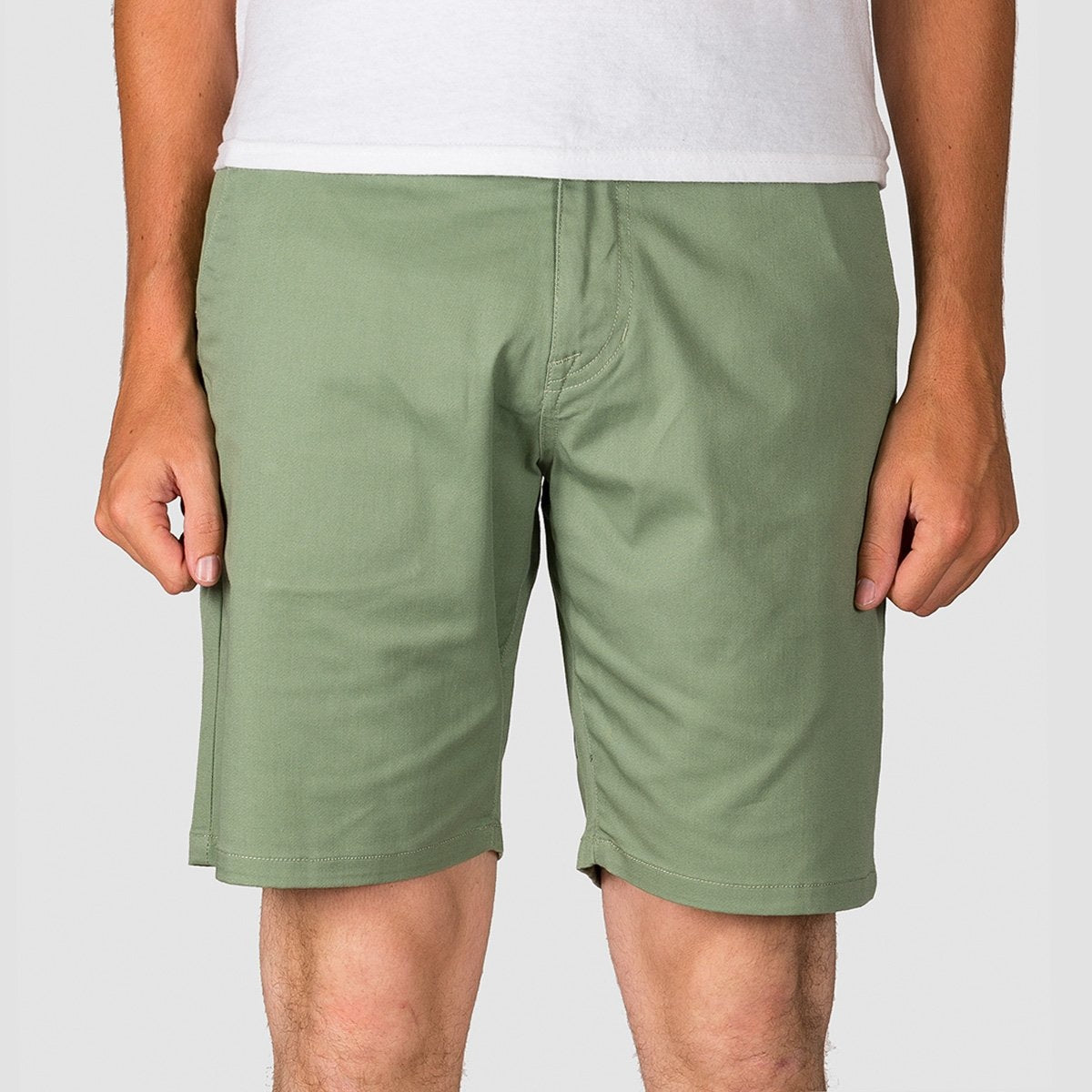 Volcom Frickin Modern Stretch 19 Shorts Faded Army - Clothing