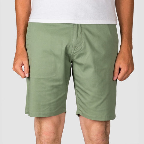 "Volcom Frickin Modern Stretch 19"" Shorts Faded Army"
