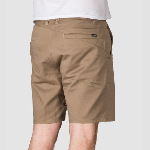 Volcom Frickin Modern Stretch 19 Shorts Khaki - Clothing