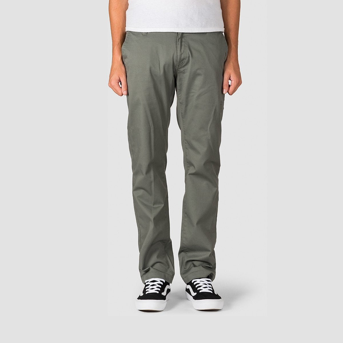 Volcom Frickin Modern Stretch Chino Pants Dusty Green - Clothing