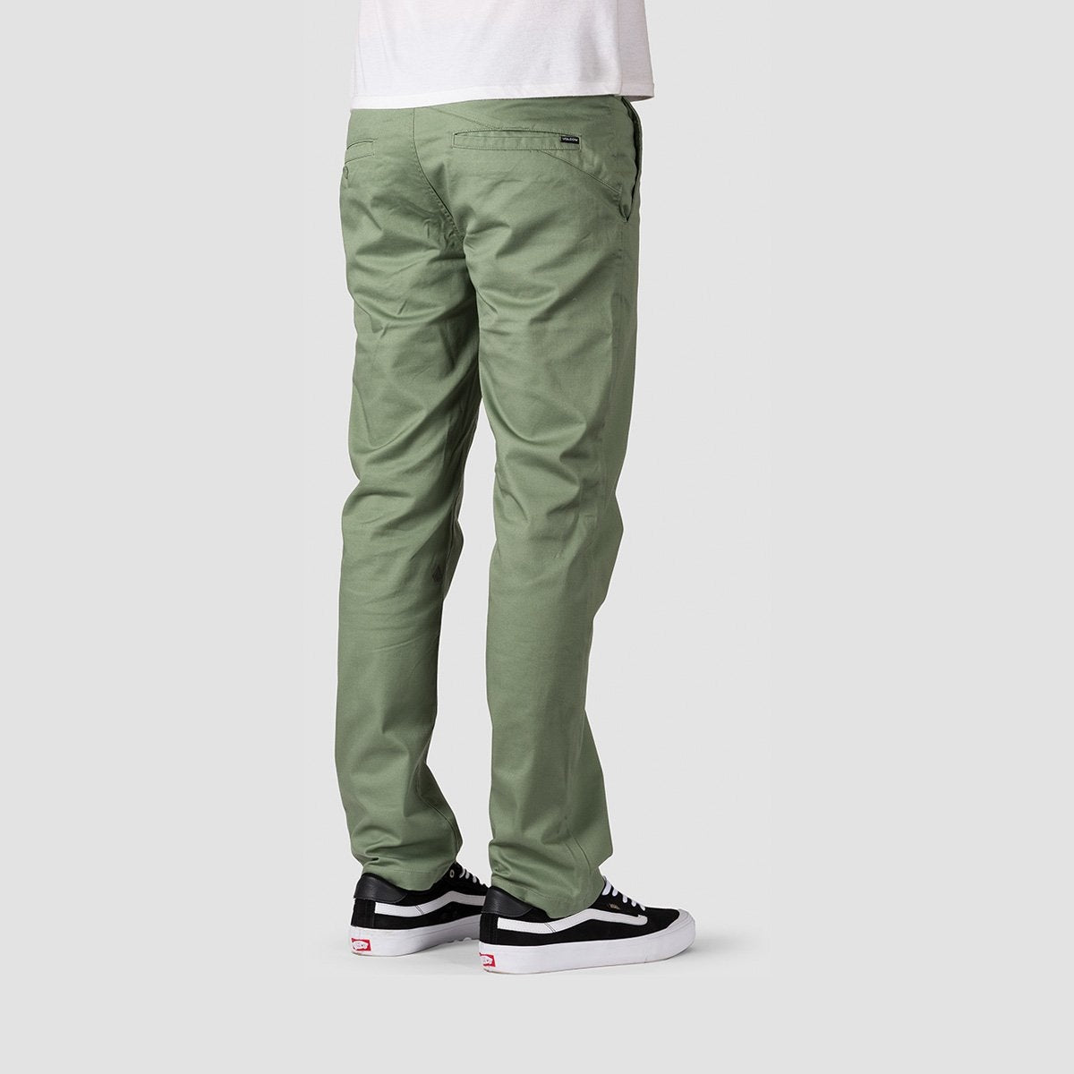 Volcom Frickin Modern Stretch Chino Pants Faded Army - Clothing