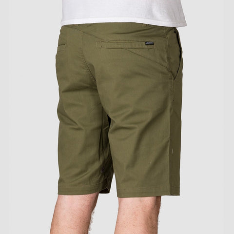 Volcom Frickin Modern Stretch Shorts Army - Clothing