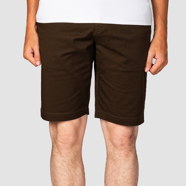 Volcom Frickin Modern Stretch Shorts Dark Chocolate