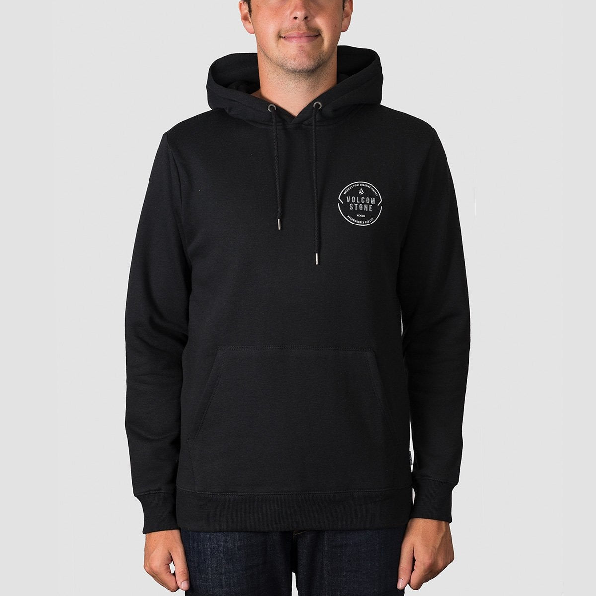 Volcom General Stone Pullover Hood Black - Clothing
