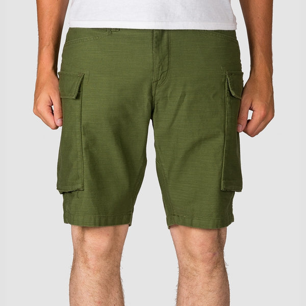 Volcom Gritter Cargo Shorts Army - Clothing