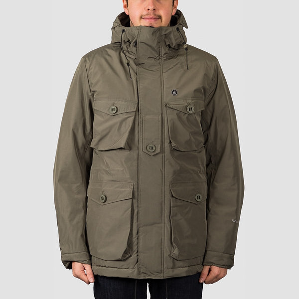 Volcom Hawstone 5K Jacket Army Green Combo - Clothing